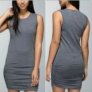 Lululemon In The Flow Tank Dress Size 4 Charcoal
